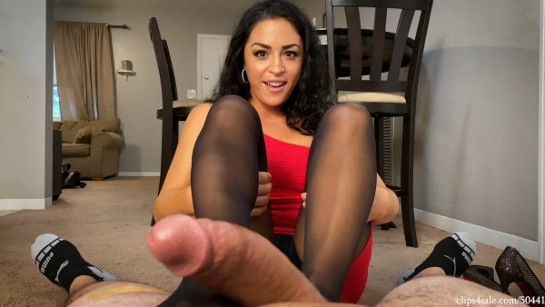 Caught Staring By Mom's Co Worker Cleo Footjob – Bratty Babes Own You