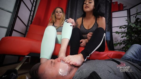 Smell Our Sweaty Funky Soles – Bratty Foot Girls  – Amethyst Mars, Athena Moon