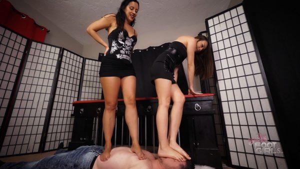 Stomping the bitch – Bratty Foot Girls – Natasha Ty, Kerri Taylor
