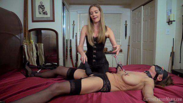 Leathered Lesbian Domination – Captive Chrissy Marie and Star Nine