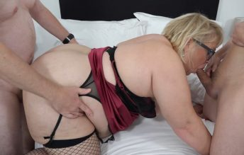Big BBW Lexi gets double teamed bareback - Gangbang Party Girls