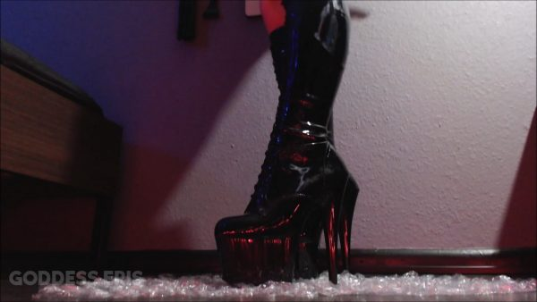 Stomping Bubble Wrap in Boots – Goddess Eris