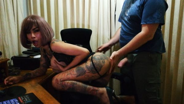 Leather Wearing Asian Sucks and Fucks – Inked Monster