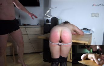 Clip 122SK-a Stefanie First Caning-Fuck - Caning - Lovely Fetish Spanking Bondage More