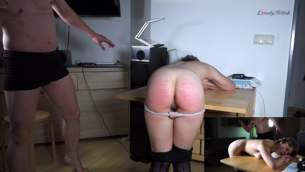 Clip 122SK-a Stefanie First Caning-Fuck – Caning – Lovely Fetish Spanking Bondage More