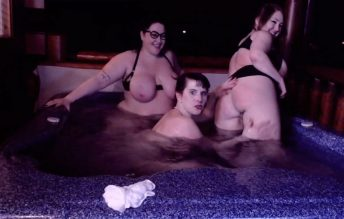 3 babes and a hot tub - Miss Nerdy Dirty
