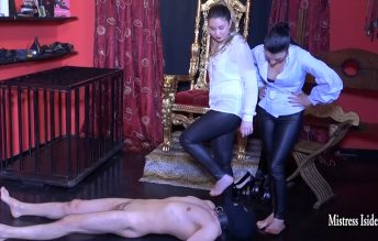 Foot Gagging Test - Mistress Iside and Mistress Scila