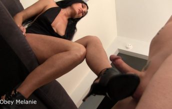 Kicked in the balls for jerking - Obey Melanie