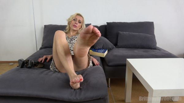 Wanna jerk off to my feet? 1080p – Brittany Bardot