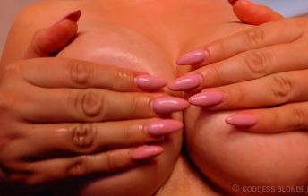 Perfect Oiled Curves - Goddess Blonde Kitty