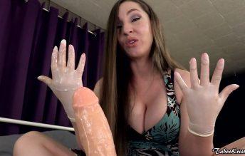 Mommy's Gloved Handjob for Needy Son 1080p - Kinky Kristi