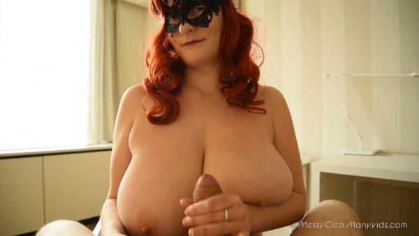 Redhead Tittyfuck and Handjob 1080p – Messy Cleo