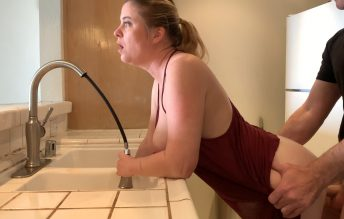 Mom Stuck In The Sink Gets Sons Dick Inside Her 2160p - Erin Electra