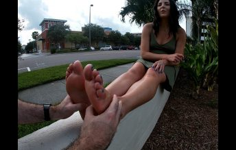 I convince a foot lover to give me a public foot rub! 1080p - Helenas Cock Quest - Helena Price