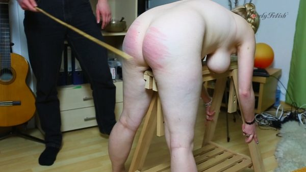 Clip 32Lil Caned To Tears On The Defaulters Trestle 1080p – Lovely Fetish Spanking Bondage More