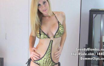 Leopard Bikini JOI - Princess Lyne