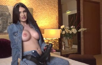 All you had in your mind while you were away was your sexy Mistress dressed all in denim pegging you 1080p - Selenne Noir