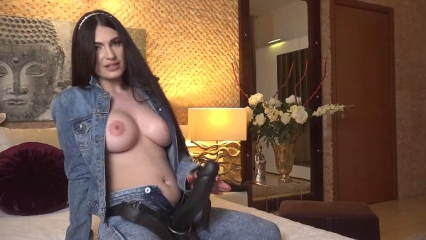 All you had in your mind while you were away was your sexy Mistress dressed all in denim pegging you 1080p – Selenne Noir