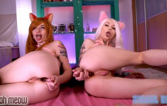 Kitties love DP, Strap-on and ANAL fuck 1080p - Zirael Rem & Leah Meow