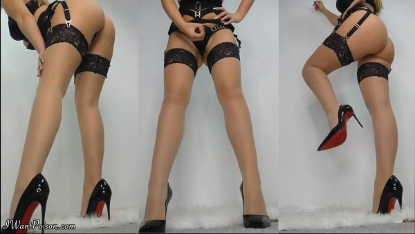 Worship Poisons Ass, legs, nylons, feet and Louboutins! 1080p – Goddess Poison