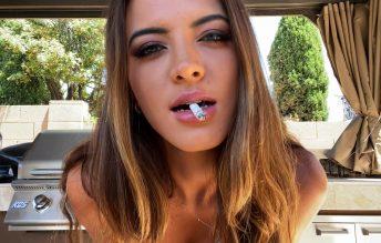 Outdoor Smoking Tease 2160p - Countess Crystal Knight