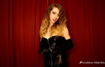 Locked in Chastity by a Leather Mistress 1080p - Goddess Nikki Kit