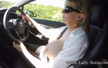 Out In The Car And Clips Outdoors 1080p - Lady Sonia