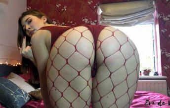 Eva de Vil - Quick Fishnet Ass Worship