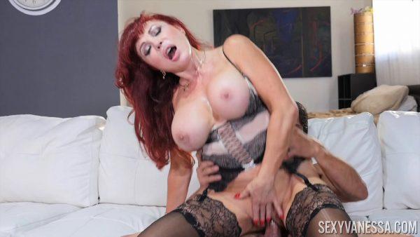 Sexy Vanessa – Tommy Gunn Black Stockings Hardcore