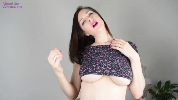 Miss Alika White – Sensual Underboob Jerk Junkie
