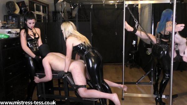 Mistress Tess – Triple Dick Rotation Mistress Bliss and Mistress Karina