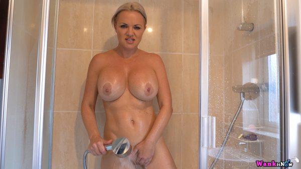 WankItNow – Frankie Babe Shower Stalker
