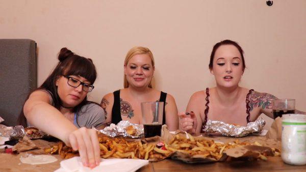 Ari Cleo – 3 Girls Burger Mukbang and Burping