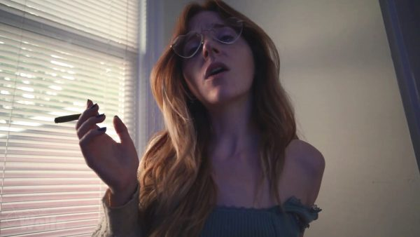 Jessie Wolfe – Redhead Stoner Girlfriend gives you JOI while Smoking