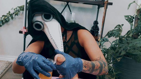 Cara Day – The Plague Doctors Cure Handjob & Cei