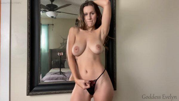 Goddess Evelyn – Cumslut For Big Tits