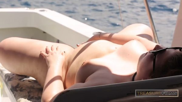 Treasure Films – Masturbating on a Boat in Front of Group