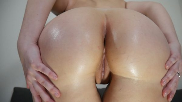 Ashley Alban – Leggings and Baby Oil
