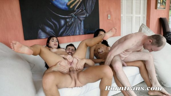 BornTrans – Pamela & Roberta – Cuckold Swap His Wife For a Shemale and His Wife Got Fucked Infront Of Him