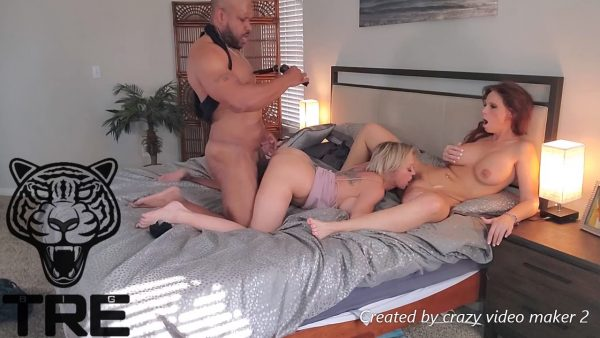TheRealBigTre – Threesome with Dee and Syren DeMer